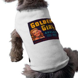 Golden Girl Brand Apples Vintage Advertisment Sleeveless Dog Shirt