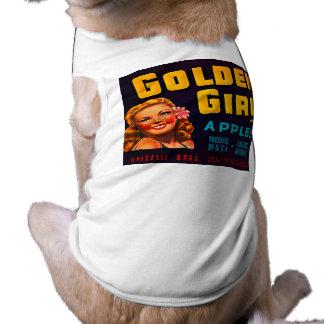 Golden Girl Brand Apples - Vintage Crate Label Doggie T Shirt