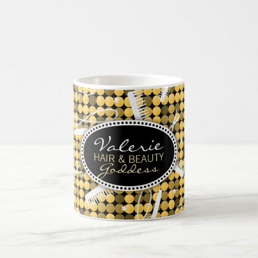 Golden Glam Custom Hair & Beauty Mug