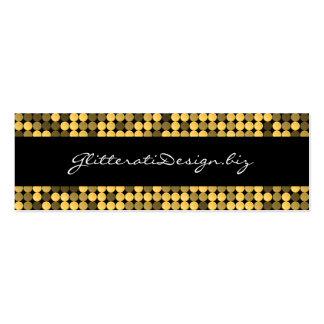 Golden Glam Skinny Bizcard Business Card