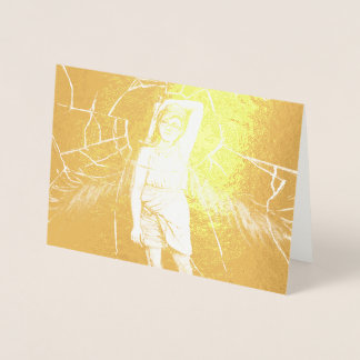 Golden Glass Foil Card