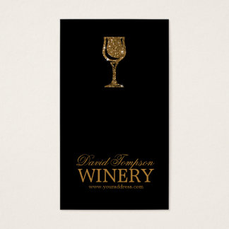 Golden Glass Wine Maker Sommelier Black Card