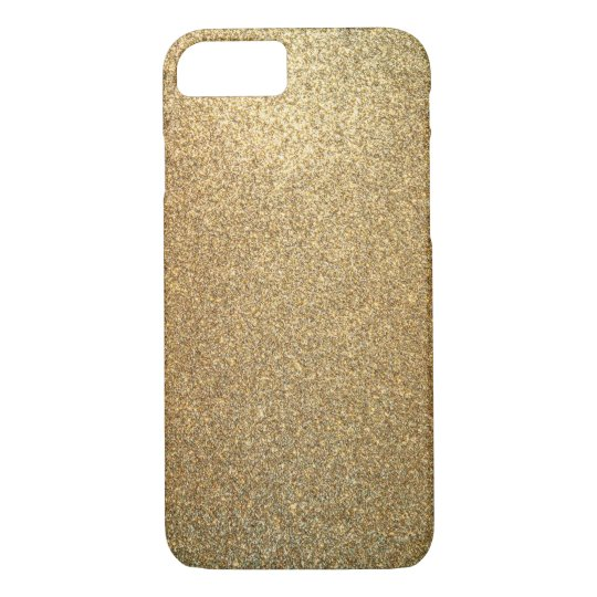 Golden Glitter Abstract Art iPhone Case