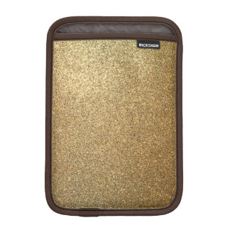 Golden Glitter Abstract Art Mini iPad Sleeve