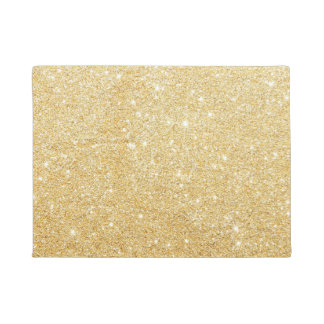 Golden Glitter Diamond Doormat