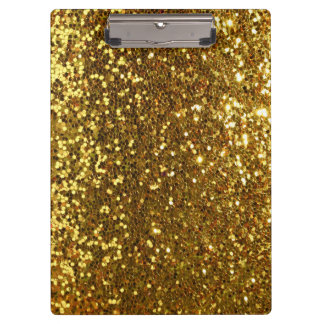 golden glitter look clipboard