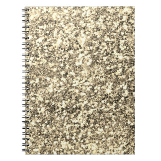 Golden Glitter Notebook