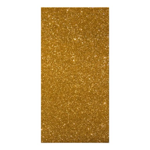 Golden glitter personalized photo card