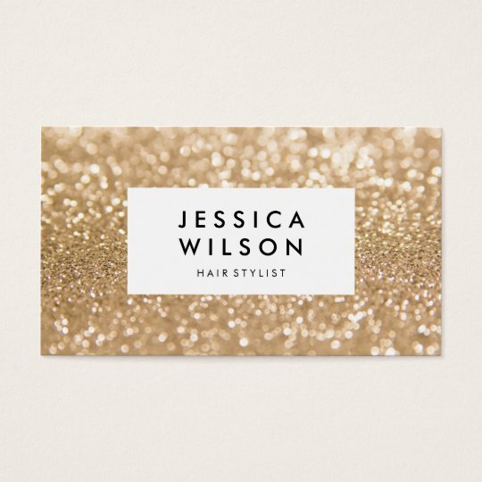 Golden Glitter Shine Stylish Business Cards