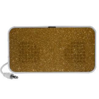 Golden glitter notebook speakers