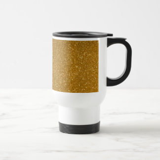Golden glitter travel mug
