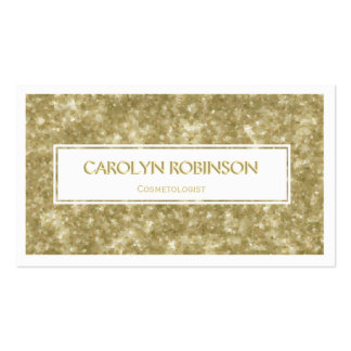 Golden Glitter with White Label Business Card Template