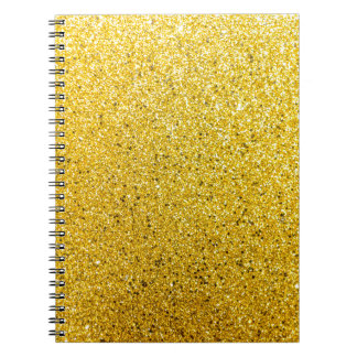 Golden Glittery Sunshine Notebook