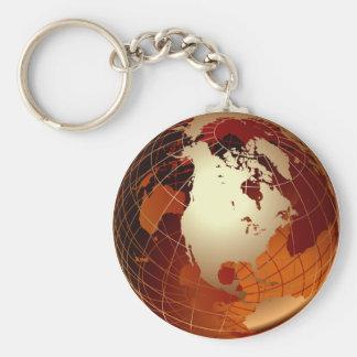 GOLDEN GLOBE BASIC ROUND BUTTON KEY RING