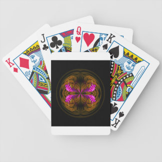 Golden globe flowers bicycle playing cards