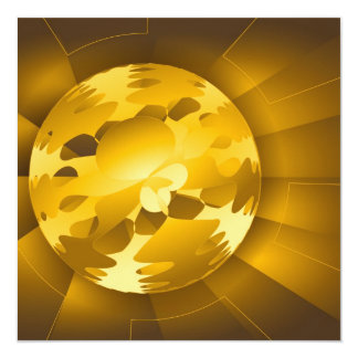 Golden Globe 5.25x5.25 Square Paper Invitation Card