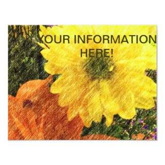Golden Glow 11 Cm X 14 Cm Invitation Card