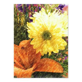 Golden Glow 14 Cm X 19 Cm Invitation Card