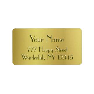 Golden Glow Address Label