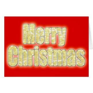 """Golden Glow Effect"" Merry Christmas Card"
