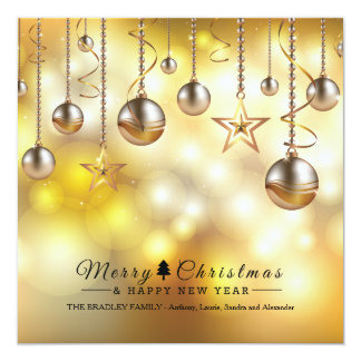 Golden Glow Holiday Cards 13 Cm X 13 Cm Square Invitation Card