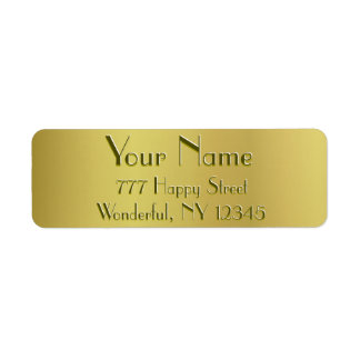 Golden Glow Return Address Label