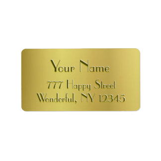 Golden Glow Address Label