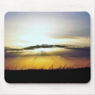 Golden Glow Mouse Pad