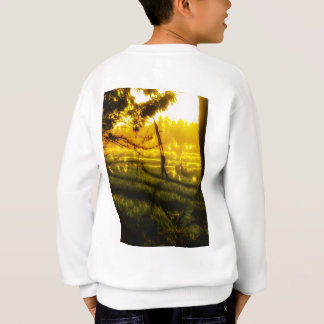 Golden Glow of Late Afternoon on Balinese field Sweatshirt