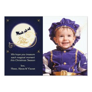 Golden Glow Photo Holiday Card 13 Cm X 18 Cm Invitation Card