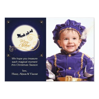 Golden Glow Photo Holiday Card 13 Cm X 18 Cm Invitation Card
