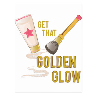 Golden Glow Postcard
