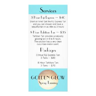 Golden Glow Rack Card