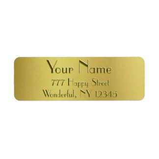 Golden Glow Return Address Label