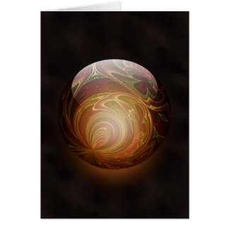 Golden Glowing Round Marble Abstract, Custom Greeting Card
