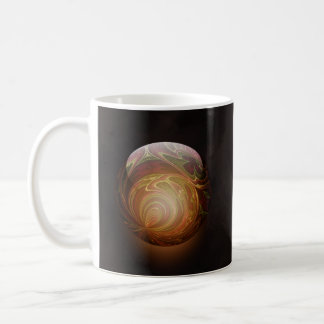 Golden Glowing Round Marble Abstract Mugs