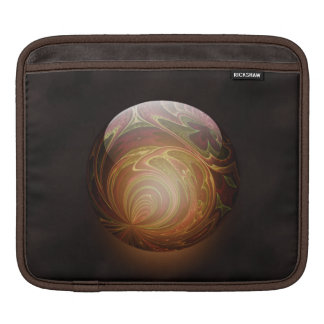 Golden Glowing Round Marble Abstract Sleeve For iPads