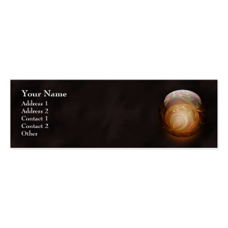 Golden Glowing Round Marble, Custom Pack Of Skinny Business Cards