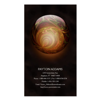 Golden Glowing Round Marble, Custom Pack Of Standard Business Cards