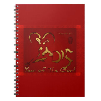 Golden Goat Chinese and Vietnamese New Year N Spiral Notebooks