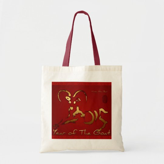 Golden Goat Chinese Vietnamese New Year Tote Bag