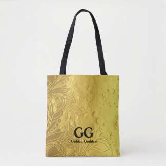 Golden Goddess Celebrate Happy 50th Birthday Party Tote Bag