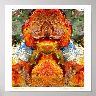 Golden Goddess of Abundance Poster