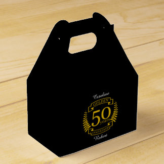 GOLDEN Golden 50 Years Wedding Anniversary 50 all Favour Box