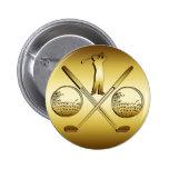 GOLDEN GOLF 6 CM ROUND BADGE