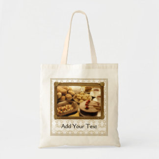 Golden Grace Desserts Tote Bags