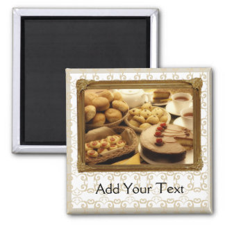 Golden Grace Desserts Square Magnet