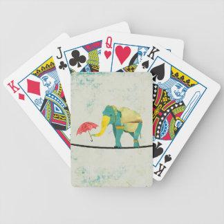 Golden Graceful Elephant  Card Deck