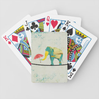 Golden Graceful Elephant  Card Deck Bicycle Playing Cards