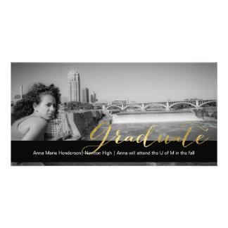 Golden Grad Photo Card Template